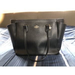 Coach large crossgrain leather baby bag/travel bag